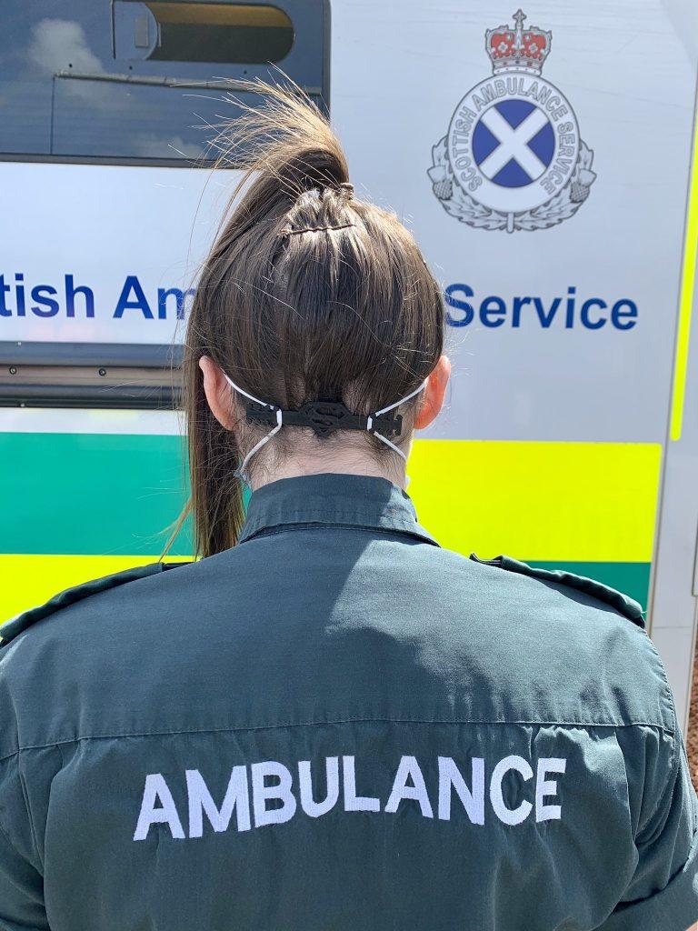 paramedic wearing ear saver